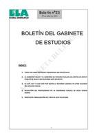 Boletin 23 del Gabinete de Estudios de ELA