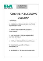 Aterketa Bulegoko Buletina 46