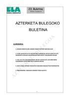 ELAren Azterketa Bulegoko 23 buletina