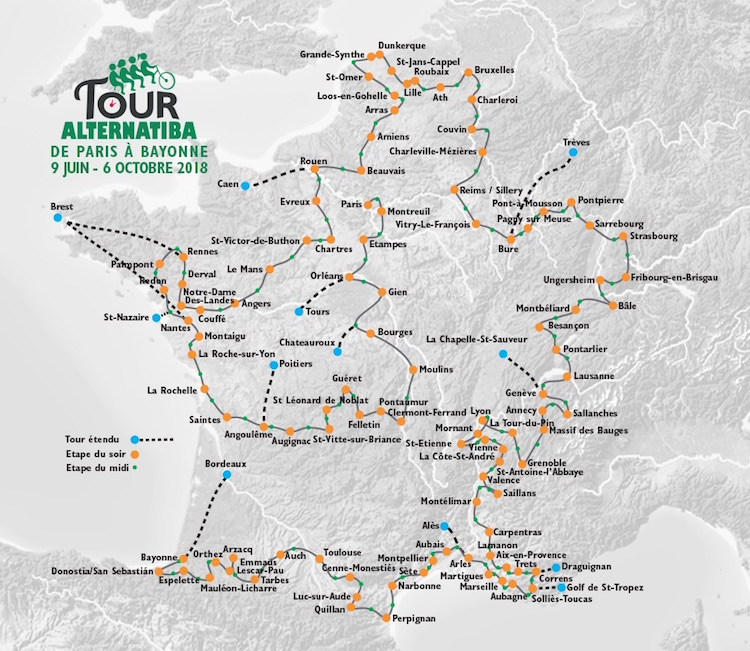Tour Alternatiba mapa